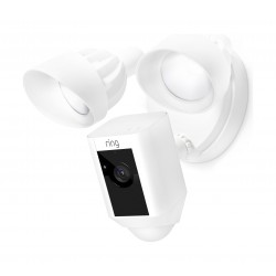 Ring Floodlight Camera Motion-Activated HD Security Cam Two-Way Talk and Siren Alarm - Black
