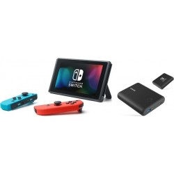 Nintendo Switch Portable Gaming System Blue/Red + Anker PowerCore Nintendo Switch Edition 13400mAh Power Bank