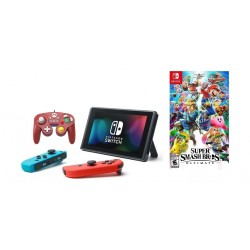 Nintendo Switch Portable Gaming System + Hori Nintendo Switch: Super Smash Bros GamePad + Super Smash Bros. Ultimate