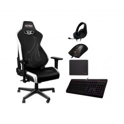 Nitro S300EX Gaming Chair + HyperX Gaming Mouse + HyperX Headset + HyperX MousePad + HyperX Gaming Keyboard