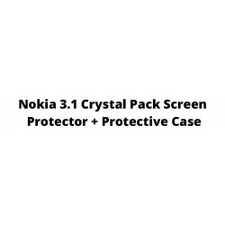 Nokia 3.1 Crystal Pack Screen Protector + Protective Case