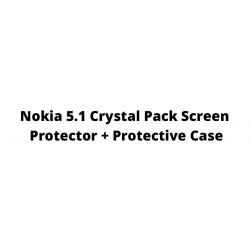 Nokia 5.1 Crystal Pack Screen Protector + Protective Case