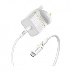 OtterBox UK Wall Charger Bundle USB-C 18W - USB-PD + Cable C-Lightning 1M - White
