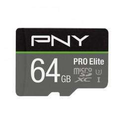 PNY PRO Elite MicroSD Card 64GB