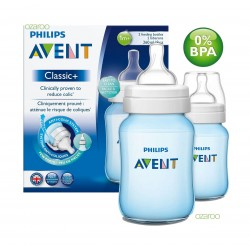 Philips Avent 260ML 2Pcs Natural Feeding Bottle - Blue   1