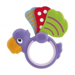 Chicco Polka Dot Parrot Rattle Baby Toy (056T)