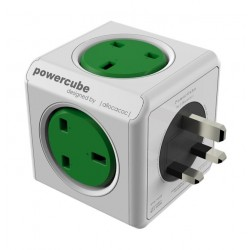 Allocacoc PowerCube Original Power Adapter with Dual USB Port (7200) - Green