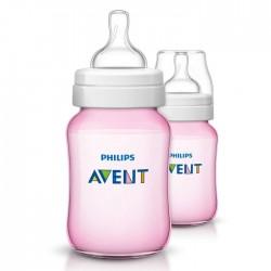 Philips Avent Classic Plus Bottle 260ml Pink 2 Pcs buy xcite kjuwait