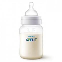 Philips Avent Anti-Colic Bottle 260ml transparent white siicone buy in xcite Kuwait