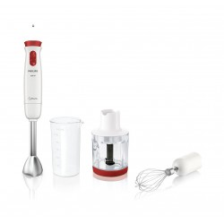 Philips 650W Hand Blender with Whisk and Chopper (HR1627-01) - White