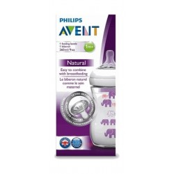Philips Avent 260ML Natural Feeding Bottle - Purple