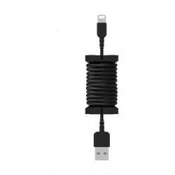 Philo Apple certified MFI 1 Meter Cable Lightning Cable with Spool Organizer (PH004BK) - Black