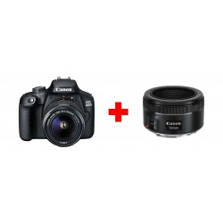 Canon EOS 4000D 18MP Wi-fi With 18-55 Lens DC + Canon EF 50mm f/1.8 STM Lens