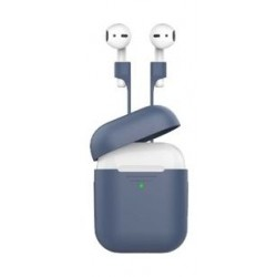 Promate Protective Case and Strap Kit for Airpods - Navy