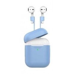 Promate Protective Case and Strap Kit for Airpods - Blue