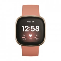 Fitbit Versa 3 Smart Watch - Pink / Gold
