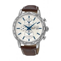 Seiko Gents Chronograph Watch Leather Strap PL051