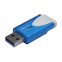 PNY Attache4 64GB USB 3.0 Flash Drive - FD64ATT430