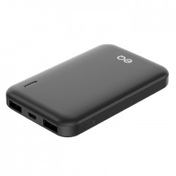5000mAh Power Bank black small top side xcite buy in Kuwait