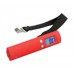 Promate PowerScale Multi-Function 3-in-1 Digital Weighing Scale with Power Bank - Red