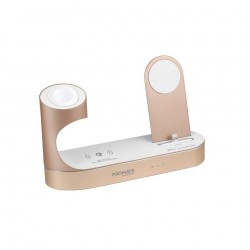 Promate PowerState Wireless Docking Station - Gold