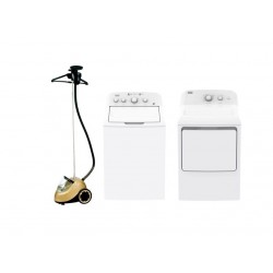 Frigidaire 17Kg Top Load Washer + Frigidaire 10KG Dryer + Princess Vertical Steamer Pro 3