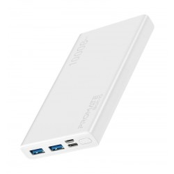 Promate Bolt-10 10000 mAh Smart Charging Power Bank - White