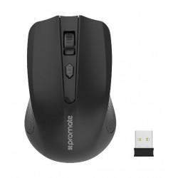 Promate CLIX-8 Ergonomic Wireless Mouse - Black