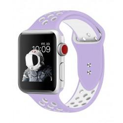 Promate Oreo 40mm Sporty Apple Watch Band - Purple/White