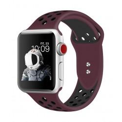 Promate Oreo 44mm Sporty Apple Watch Band - Maroon/Black