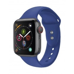 Promate Oryx-42ML Sporty Silicon Watch Strap for 38mm Apple Watch - Blue