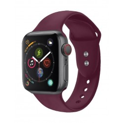 Promate Oryx Sporty Silicon Watch Strap for 42mm Apple Watch (S/M) - Maroon