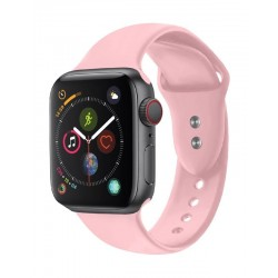 Promate Oryx Sporty Silicon Watch Strap for 38mm Apple Watch (M/L) - Light Pink