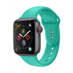 Promate Oryx Sporty Silicon Watch Strap for 42mm Apple Watch (M/L) - Turquoise