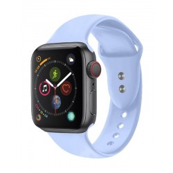 Promate Oryx Sporty Silicon Watch Strap for 38mm Apple Watch (M/L) - Light Blue