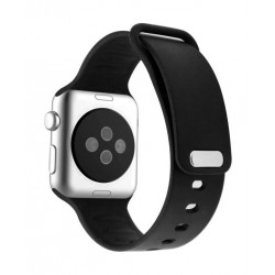 Promate Rarity 44mm Apple Watch Stylish Silicon Strap - Black