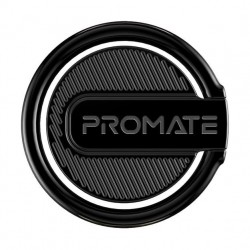 Promate RinGrip-1 Multi-Function Kickstand Ring Mount - Black