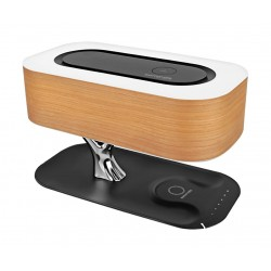Promate Bonsai-Qi Wireless Portable Speaker With Wireless Charging Station and LED Lamp