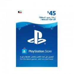 PlayStation Wallet Top-Up $45 (Kuwaiti Account)
