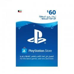 PlayStation Wallet Top-Up $60 (Kuwaiti Account)