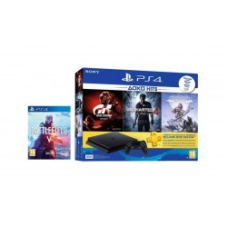 Sony PlayStation 4 Slim 500GB + 4 PlayStation 4 Games + 3 Months PSN Card