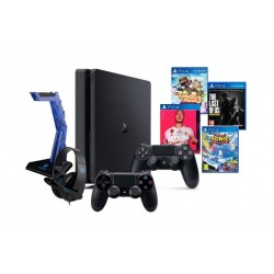 PlayStation 4 1TB + EQ Sades Wolfbone Headset Stand + Headphone + PS4 DS4 Controller + 4 Games