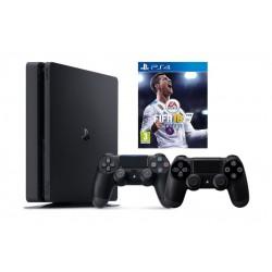 Sony Playstation 4 Slim 1TB Console + FIFA 18 Bundled (PAL) - Black