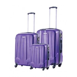 U.S Polo New Ice 3 Set (76+63+50cm) Hardcase Luggage - Purple