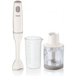 Philips Daily Collection Plastic Hand Blender 550 Watt with Beaker & Chopper HR1602/01