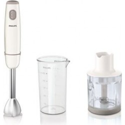 Philips Daily Collection Metal Hand Blender 550 Watt with Beaker & Chopper HR1605/01