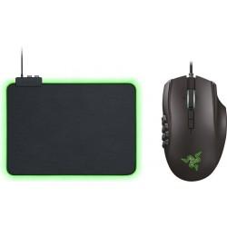 Razer Naga Trinity MOBA/MMO Gaming Mouse + Razer Goliathus Chroma Mouse Pad