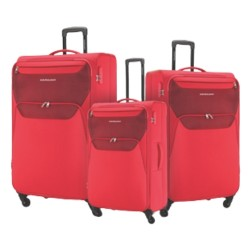 American Tourister Kam Bali Soft Luggage Set - Red