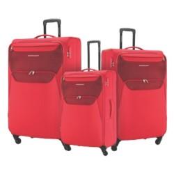 American Tourister Kam Bali Soft Luggage Set - Red