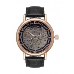 Jean Bellecour Automatic Analog Gents Watch – Leather Strap (REDS26)